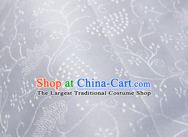 Asian Chinese Fabric Traditional Stria Grass Pattern Design White Brocade Fabric Chinese Costume Silk Fabric Material