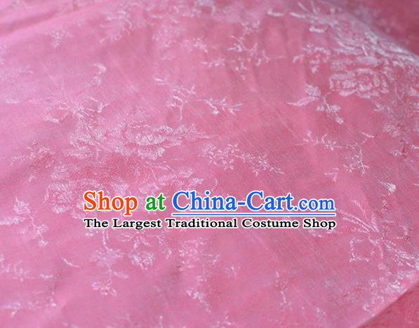 Asian Chinese Fabric Traditional Peony Pattern Design Pink Brocade Fabric Chinese Costume Silk Fabric Material