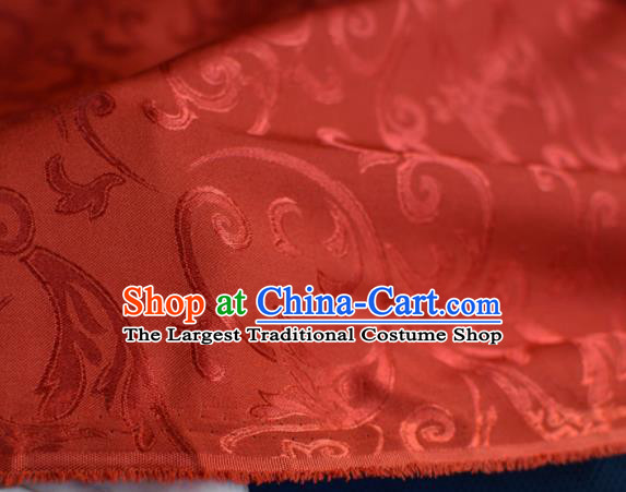 Asian Chinese Fabric Traditional Pattern Design Red Brocade Fabric Chinese Costume Silk Fabric Material