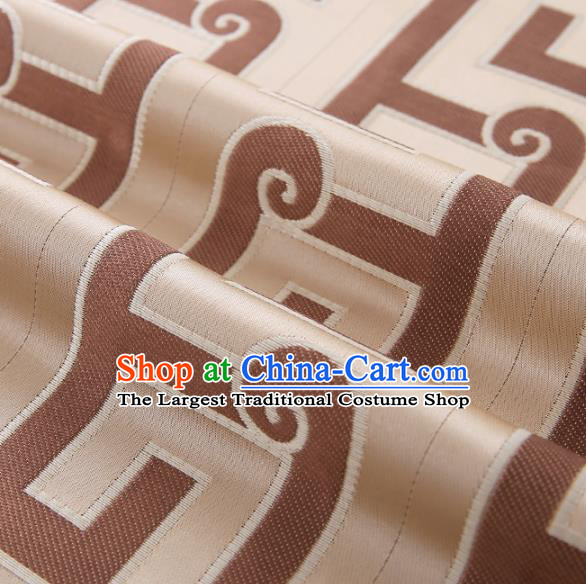 Asian Chinese Brocade Fabric Traditional Pattern Design Satin Cushion Silk Fabric Material