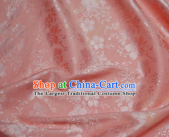 Asian Chinese Fabric Traditional Sakura Pattern Design Pink Brocade Fabric Chinese Costume Silk Fabric Material