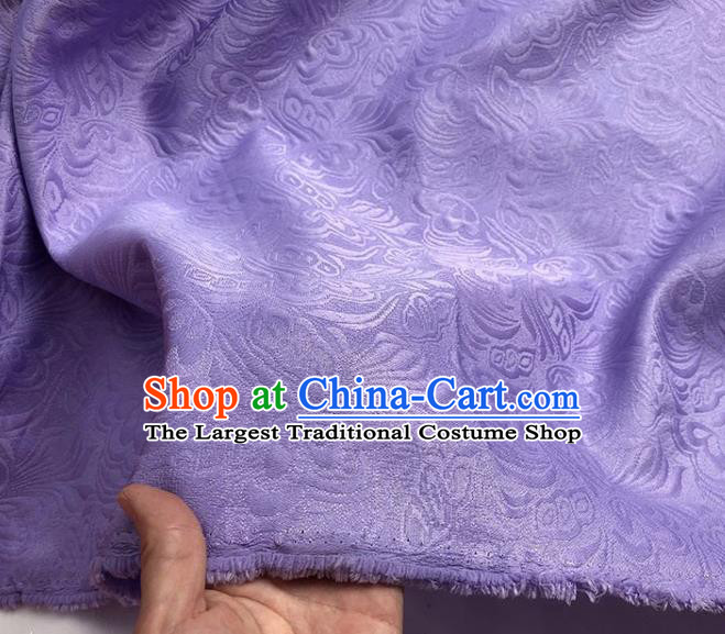 Asian Chinese Fabric Traditional Butterfly Pattern Design Purple Brocade Fabric Chinese Costume Silk Fabric Material