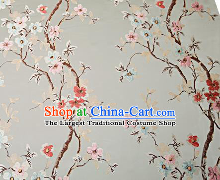 Chinese Traditional Light Blue Brocade Fabric Asian Pattern Design Satin Cushion Silk Fabric Material