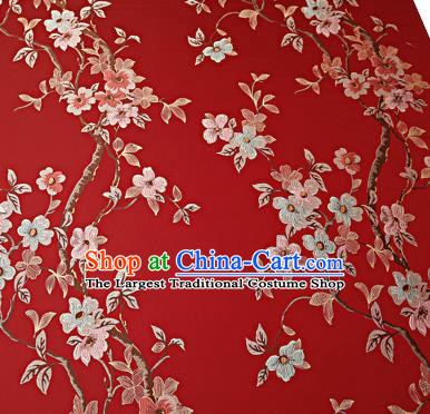 Chinese Traditional Red Brocade Fabric Asian Pattern Design Satin Cushion Silk Fabric Material