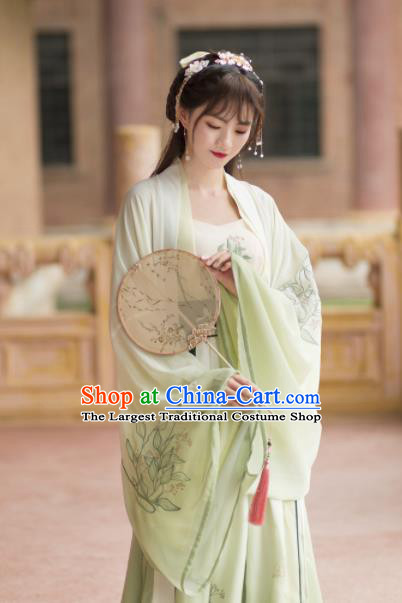 Chinese Ancient Peri Hanfu Dress Tang Dynasty Princess Embroidered Costumes for Rich Women