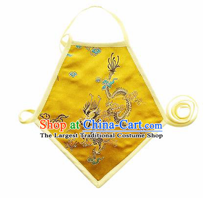 Chinese Classical Brocade Bellyband Traditional Baby Embroidered Dragon Silk Stomachers for Kids