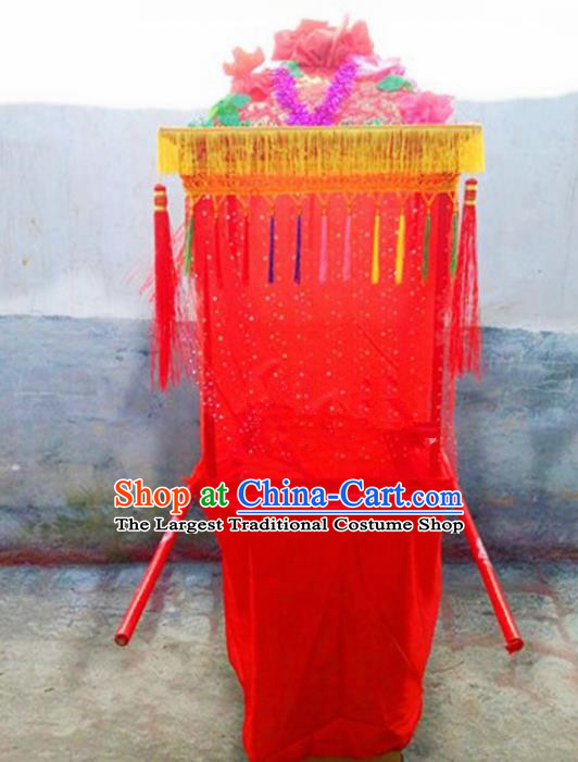 Chinese Traditional Folk Dance Yanko Dance Props Red Bridal Sedan Chair