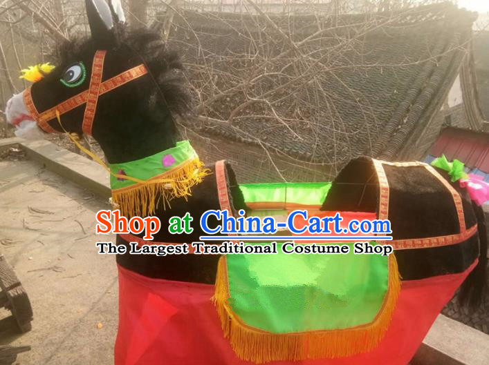 Chinese Traditional Folk Dance Yanko Dance Props Black Donkey Land Boat