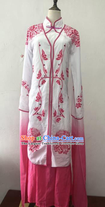 Chinese Traditional Classical Dance Costumes Beijing Opera Diva Folk Dance Pink Dress for Women