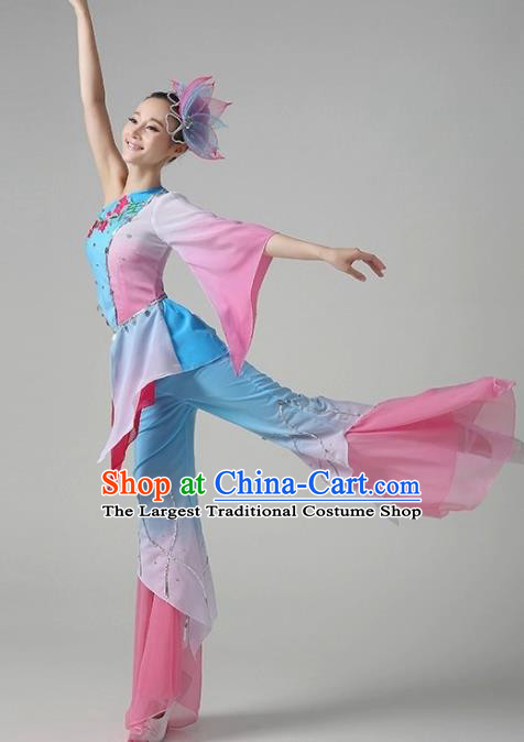Chinese Traditional Classical Dance Costumes Folk Dance Yanko Dance Dress for Women