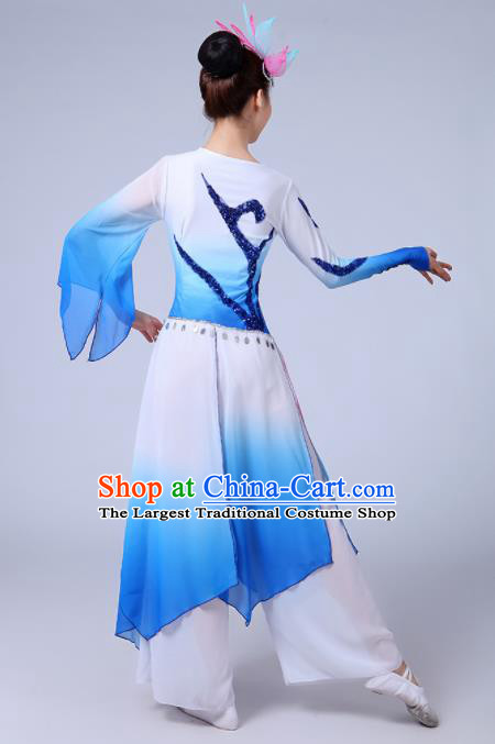 Traditional Chinese Fan Dance Folk Dance Costume Classical Yangko Dance Classical Dance Dress