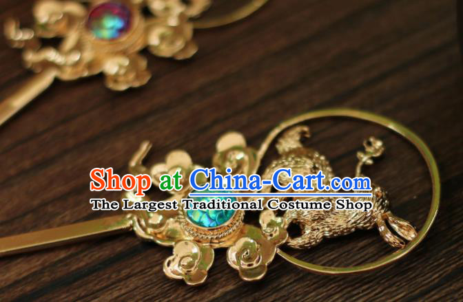 Chinese Traditional Handmade Hair Accessories Ancient Rabbit Hairpins Headwear for Women