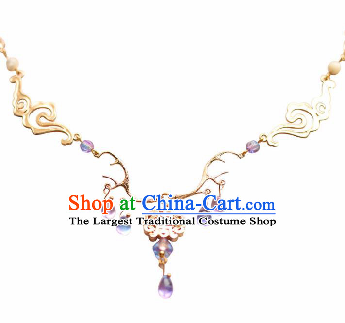Traditional Chinese Necklace Ancient Handmade Palace Lady Necklet Accessories for Women