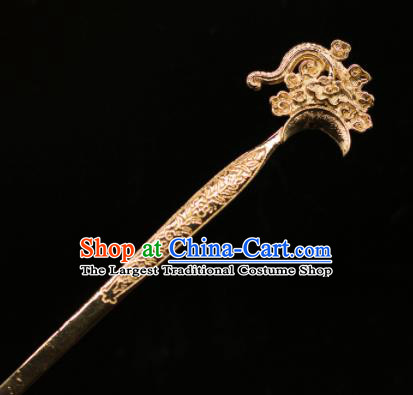 Chinese Traditional Handmade Hair Accessories Ancient Golden Carving Hairpins for Women