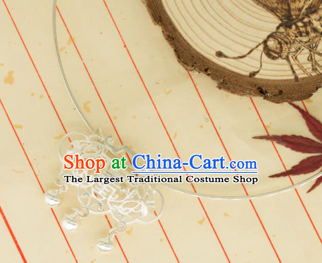 Traditional Chinese Handmade Necklace Ancient Palace Lady Longevity Lock Accessories for Women