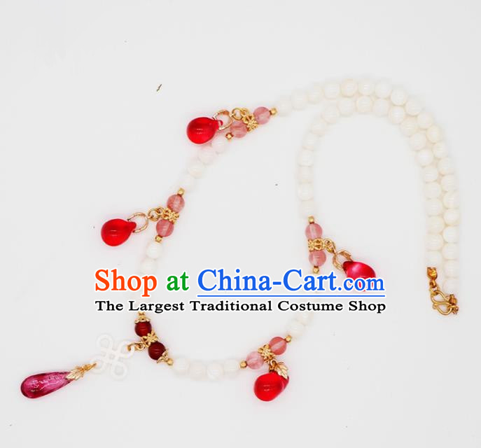 Traditional Chinese Handmade Necklace Ancient Shell Necklet Accessories for Women