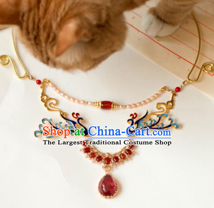 Traditional Chinese Handmade Phoenix Necklace Ancient Necklet Accessories for Women