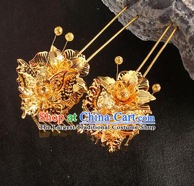 Chinese Traditional Handmade Hair Clips Hair Accessories Ancient Bride Hairpins for Women