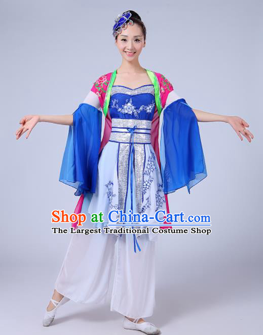 Chinese Traditional Classical Dance Costumes Folk Dance Fan Dance Yanko Clothing for Women