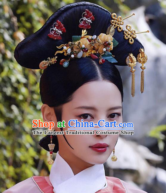 Chinese Traditional Handmade Hair Accessories Ancient Hair Clips Hairpins and Wigs for Women