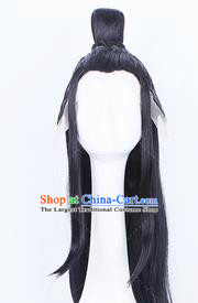 Traditional Chinese Handmade Wigs Ancient Prince Swordsman Chignon for Men