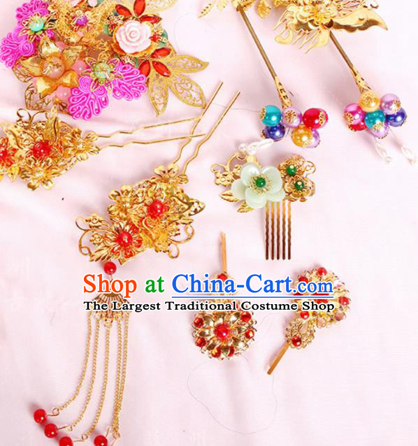 Chinese Traditional Handmade Hair Accessories Ancient Tassel Hair Clips Hairpins for Women