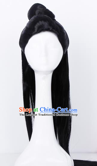Traditional Chinese Handmade Hair Accessories Wigs Sheath Ancient Princess Chignon for Women