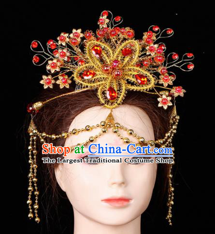 Chinese Traditional Handmade Hair Accessories Ancient Wedding Bride Hairpins for Women