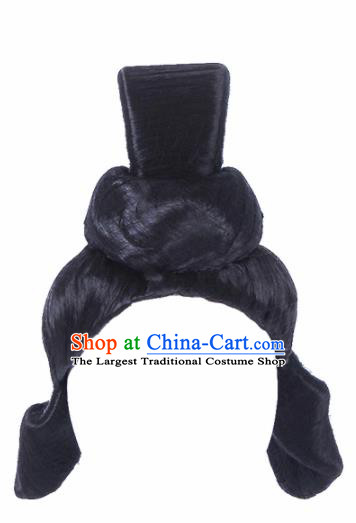 Traditional Chinese Handmade Wigs Sheath Hair Accessories Ancient Palace Princess Chignon for Women
