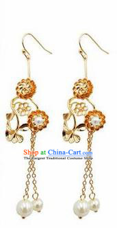 Chinese Traditional Handmade Tassel Earrings Ancient Hanfu Jewelry Accessories for Women