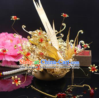 Chinese Traditional Handmade Phoenix Hairpins Ancient Wedding Hanfu Hair Accessories for Women