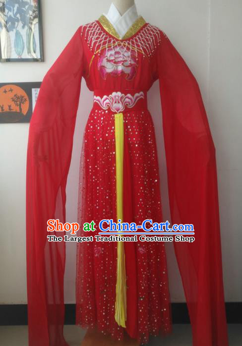 Chinese Traditional Peking Opera Princess Red Costumes Ancient Fairy Dress for Adults