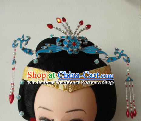 Chinese Traditional Peking Opera Hair Accessories Ancient Empress Hairpins Headwear for Adults