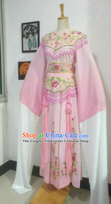 Chinese Traditional Peking Opera Nobility Lady Costumes Ancient Fairy Pink Dress for Adults