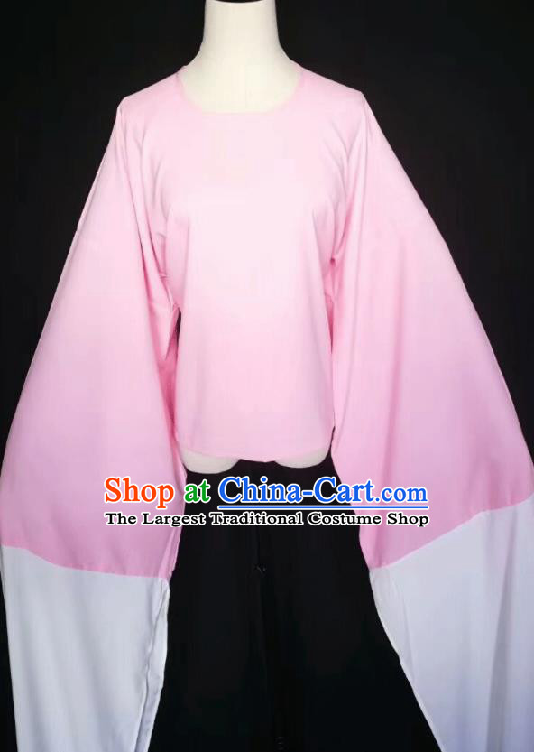 Chinese Traditional Peking Opera Costumes Ancient Water Sleeve Pink Blouse for Adults