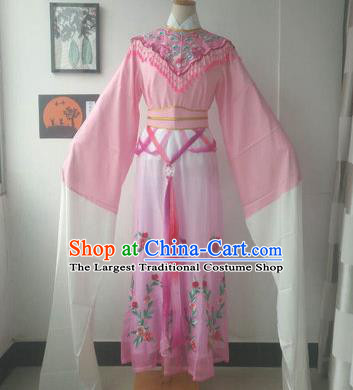 Chinese Traditional Peking Opera Princess Costumes Ancient Fairy Pink Dress for Adults