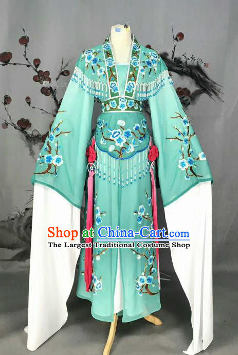 Chinese Traditional Peking Opera Actress Costumes Ancient Princess Green Dress for Adults