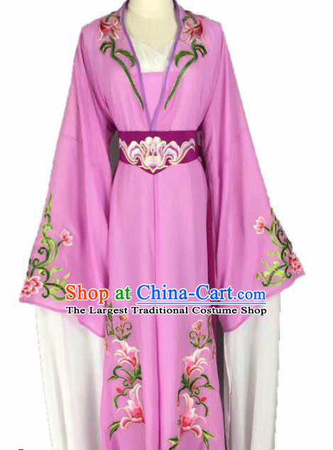 Chinese Traditional Peking Opera Actress Costumes Ancient Maidservants Purple Dress for Adults