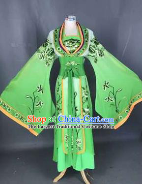 Chinese Traditional Peking Opera Actress Costumes Ancient Palace Princess Green Dress for Adults