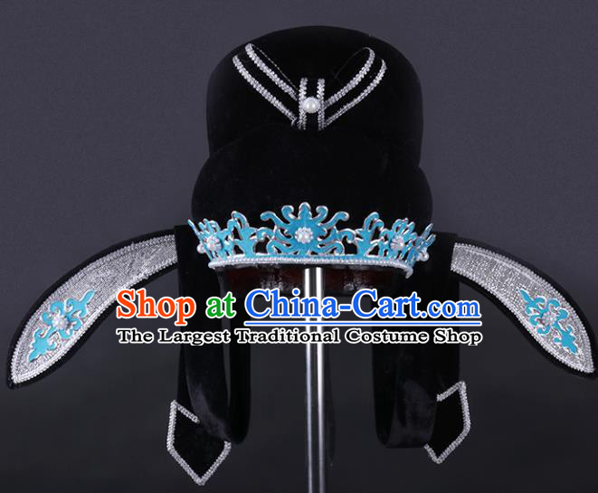 Chinese Traditional Peking Opera Niche Black Hat Ancient Gifted Scholar Headwear for Adults