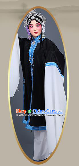 Chinese Traditional Beijing Opera Actress Costumes Ancient Young Mistress Black Dress for Adults