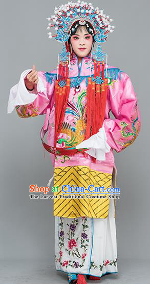 Chinese Traditional Peking Opera Diva Costumes Ancient Imperial Consort Pink Dress for Adults