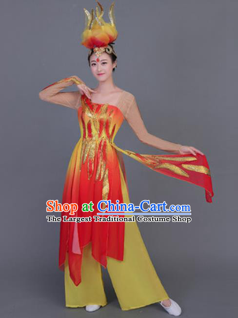 Chinese Traditional Folk Dance Costume Yangko Dance Dress for Women
