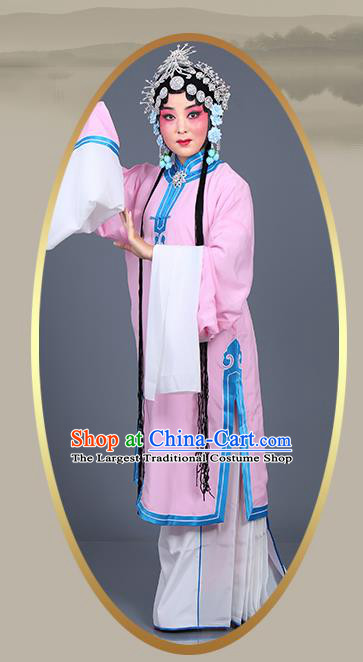 Chinese Traditional Beijing Opera Actress Costumes Ancient Young Mistress Pink Dress for Adults