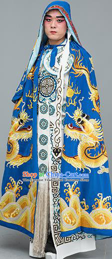 Chinese Traditional Peking Opera Takefu Costume Ancient Changing Faces Royalblue Cloak for Adults