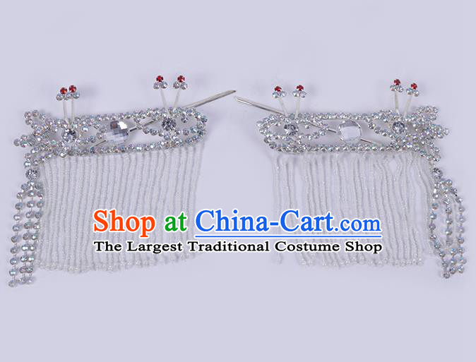 Chinese Traditional Peking Opera Princess Hair Accessories Ancient Fairy Crystal Hairpins for Women