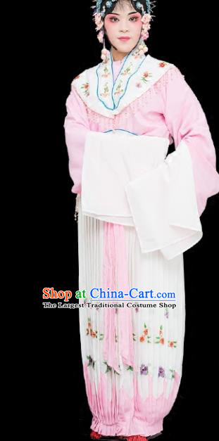 Chinese Traditional Peking Opera Diva Costumes Ancient Nobility Lady Pink Dress for Adults