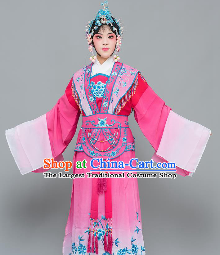 Chinese Traditional Peking Opera Nobility Lady Costumes Ancient Peri Rosy Dress for Adults