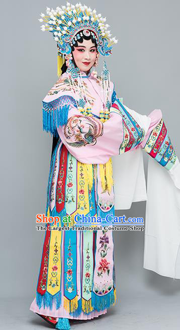 Chinese Traditional Peking Opera Imperial Consort Pink Costumes Ancient Palace Lady Dress for Adults xxxxxl
