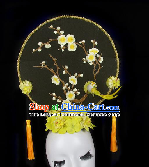 Handmade Halloween Plum Blossom Hair Accessories Chinese Stage Performance Hair Clasp Headdress for Women